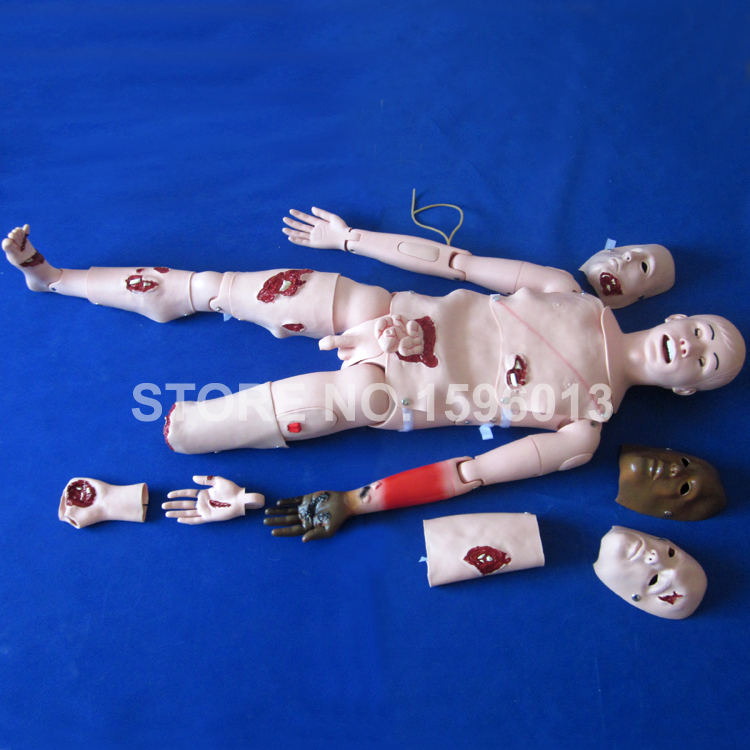 Advanced Trauma Manikin,Trauma Simulator, Wound Care and Nursing Skills Training Manikin advanced full function nursing training manikin with blood pressure measure bix h2400 wbw025