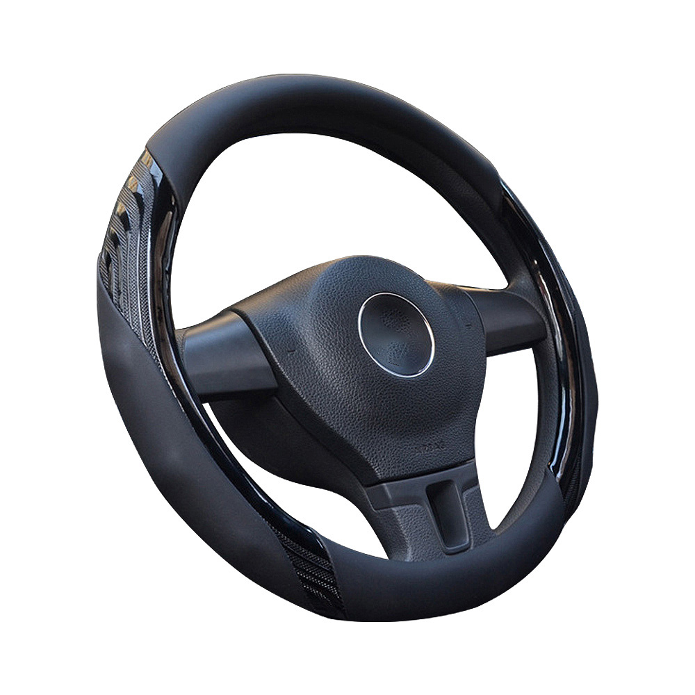 Steering Wheel Wrap Automotive Interior Accessories Soft Breathable Steering Wheel Wrap Covers Micro Fiber Leather