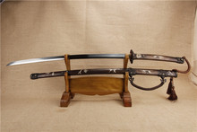 handmade katana samurai japanese sword wakizashi combat samurai knife katana sword T10 steel copper tsuba copper seppa Retro