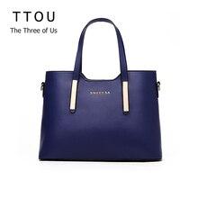 Luxus Frauen Handtasche Hohe Qualität Pu-leder Top-griff Tote Elegant Lady Solid Vertrag Classic Casual Taschen TTOU