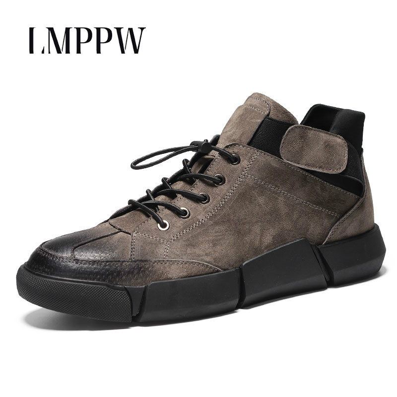 New 2018 Spring Men's Shoes British Style Men's Casual Shoes Genuine Leather Fashion Men Oxford Shoes Breathable Black Gray 2A 2017 new spring british retro men shoes breathable sneaker fashion boots men casual shoes handmade fashion comfortable breathabl