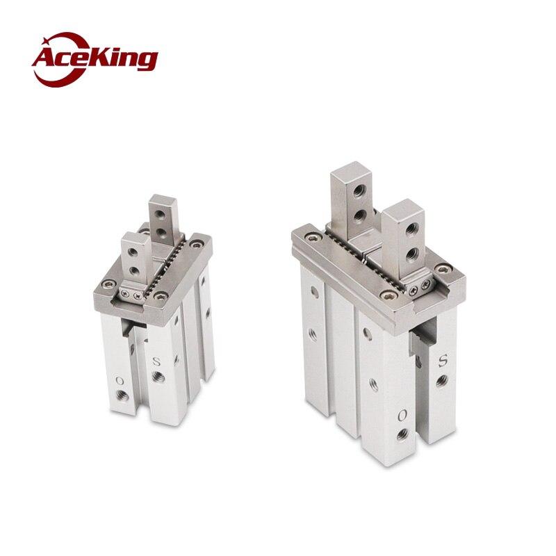 Componentes pneumáticos pneumática paralela garra HFZ/mhz2-10d16d20d25d32d tipo braçadeira de mão mecânica cilindro dedo aberto e fechado