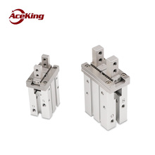 Купить с кэшбэком pneumatic components parallel air claw HFZ/ mhz2-10d16d20d25d32d open and closed type mechanical hand clamp finger cylinder