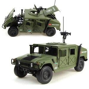 Image 3 - 合金ダイキャストハマー戦術車両 1:18 軍事装甲車ダイキャストモデルと 5 をオープンしました趣味のおもちゃ子供のため誕生日