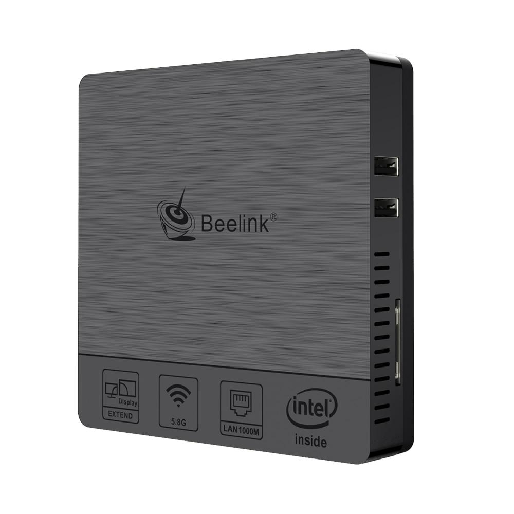 Beelink BT3Pro II Mini ordinateur Windows 10 4 go de Ram 64 go eMMC Intel Atom x5-Z8350 ordinateur de bureau multimédia HDMI VGA double écran