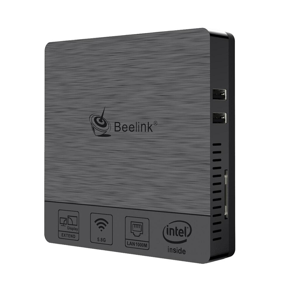 Мини ПК Beelink BT3Pro II, Windows 10, 4 Гб ОЗУ, 64 ГБ eMMC, Intel Atom x5 Z8350, мультимедийный настольный ПК, HDMI, VGA, двойной дисплей