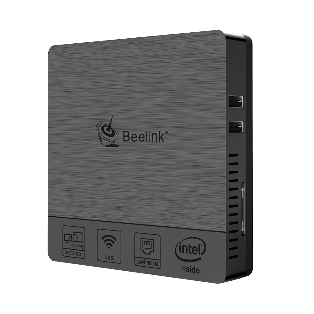 Beelink bt3pro ii mini computador windows 10 4 gb de ram 64 gb emmc intel atom x5-Z8350 multi media desktop pc hdmi vga dupla exibição