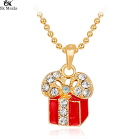 Christmas Gifts New Christmas Necklace Christmas Item Single Necklace Fashion Christmas Gift Box Pendant Necklace Female CH-09