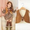 Autumn Winter fur girl vest fashion Korean children's clothing for girls lambs wool warmer cardigan vest children outerwear