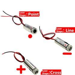 Лидер продаж 650nm 5 МВт красная точка/линии/Крест лазерный головка модуля стекло объектив Фокусируемый промышленного класса