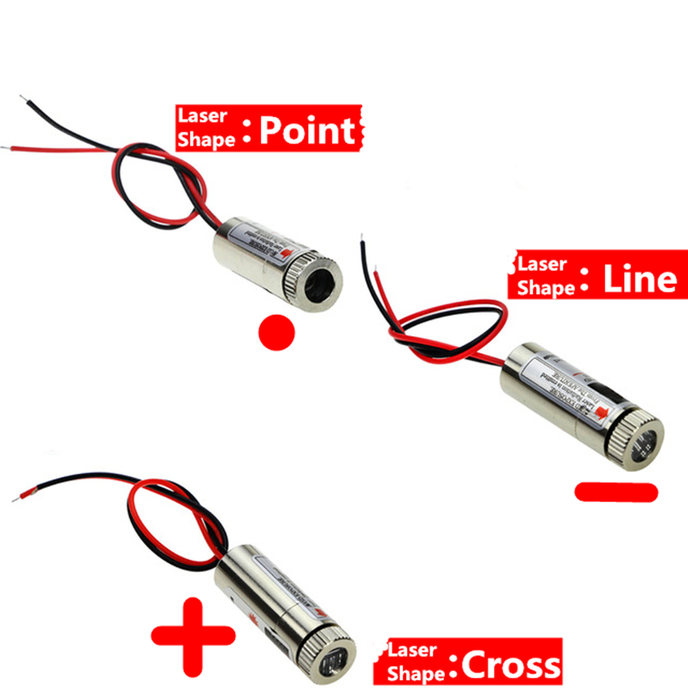 Hot Sale 650nm 5mW Red Point / Line / Cross Laser Module Head Glass Lens Focusable Industrial Class