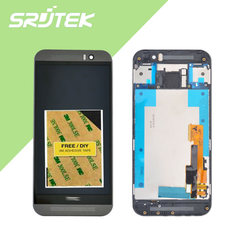 ФОТО 100% Tested Full LCD Display + Touch Screen Digitizer Assembly +Frame For HTC One M9 lcd free shipping