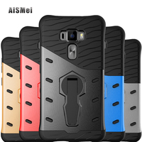 AiSMei Coque For Asus Zenfone 3 ZE552KL Ultra Armor Cover For Asus ZE552KL Case Fundas Silicon Filp Back Covers Phone Bags