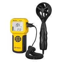 Sensor de Velocidade Do Vento de 0.3 m/s ~ 30 HP-826A HoldPeak Anemômetro Digital Air Volume de Instrumento Medida Tester Handheld