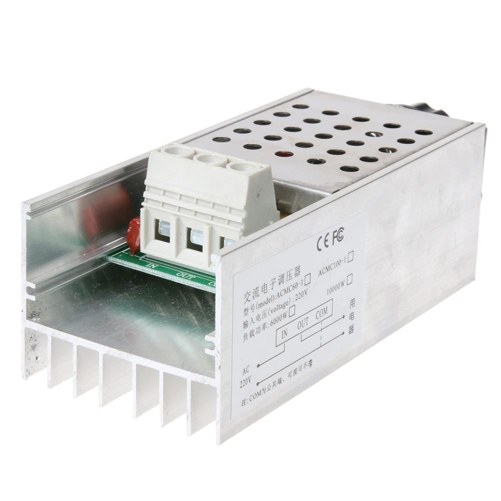 AC 220V 10000W SCR BTA10 Electronic Voltage Regulator Speed Controller High Power Digital Dimmer Voltage Speed Motor Thermostat