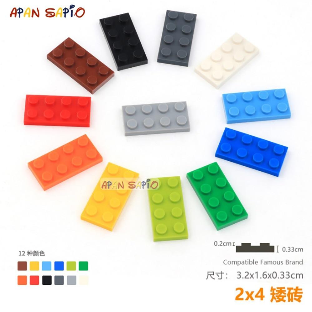DIY Blocks Building Bricks 2X4 16pcs/lot Educational Assemblage Construction Toys For Children Compatible With Brands