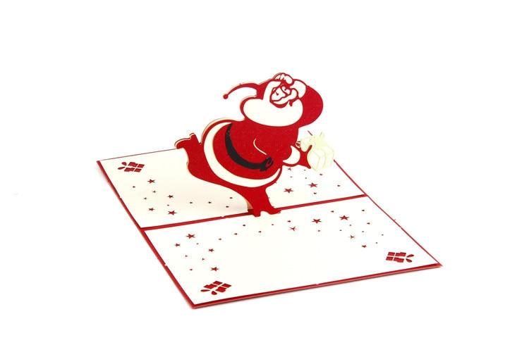 Us 265 11 Di Scontoynaayu 3d Uomo Di Natale Biglietti Di Auguri Di Buon Compleanno Carte Inviti Biglietti Di Auguri 3d Carte Cartolina In