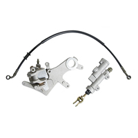 NICECNC Rear Brake Master Cylinder w/ Pads Brake Oil Hose Pipe For Honda CR125R CR250R CR 125R 250R 125 R 250 R 2002 2007