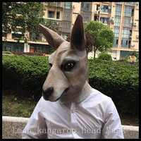 100% Natural Eco friendly Deluxe Quality Latex Accoutrements Kangaroo Mask for Halloween Party Cosplay Animal Full Head Mask