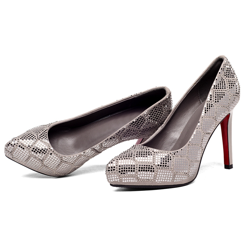 Bolso red Tamaño 39 Black Mujer Básicos Zapatos grey Moda De Alto Mujeres Vestir Las Ly425 2018 Tacón Enmayer 34 fnpdUf