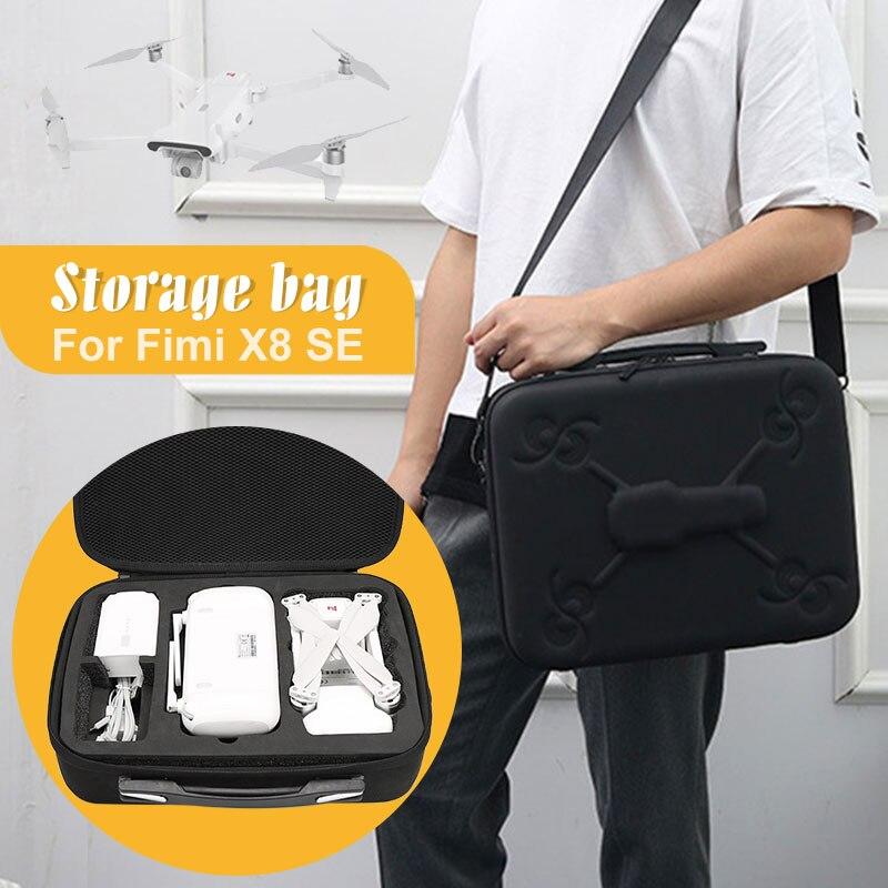 Жесткая Портативная сумка EVA для Xiao Mi FIMI X8 SE, Жесткий Чехол, портативная переносная сумка, водонепроницаемый чехол на плечо, сумка Fimi X8 Сумки для дрона      АлиЭкспресс