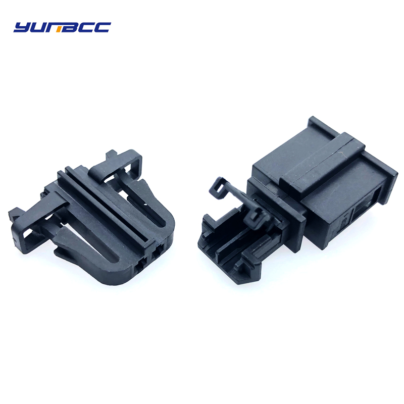 1set 2 pins 1 5mm Male Female Auto Electrical plug Trunk License Plate Light Connector 1J0971972 3B0972712 in Connectors from Lights Lighting