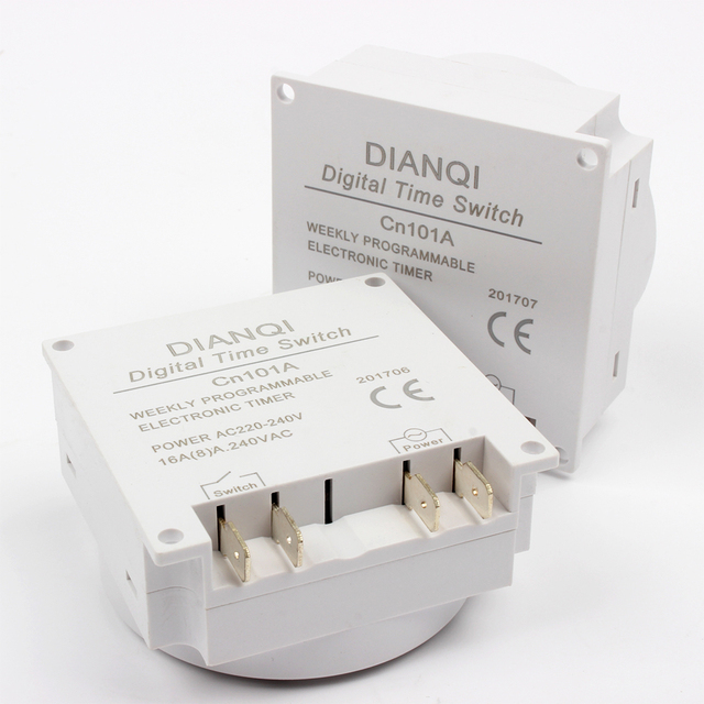 Stable CN101A 24V numérique LCD puissance Programmable temporisation relais 8A à 16A CN101 minuterie avec couvercle de protection hebdomadaire 7 jours
