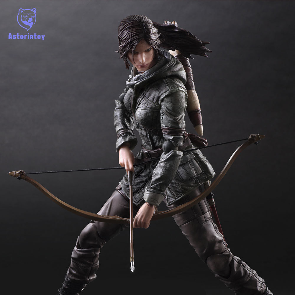 Rise of The Tomb Raider Lara Croft Variant painted figure Variant Lara Croft PVC Action Figure Collectible Model Toy 26cm KT2400 shfiguarts batman injustice ver pvc action figure collectible model toy 16cm kt1840