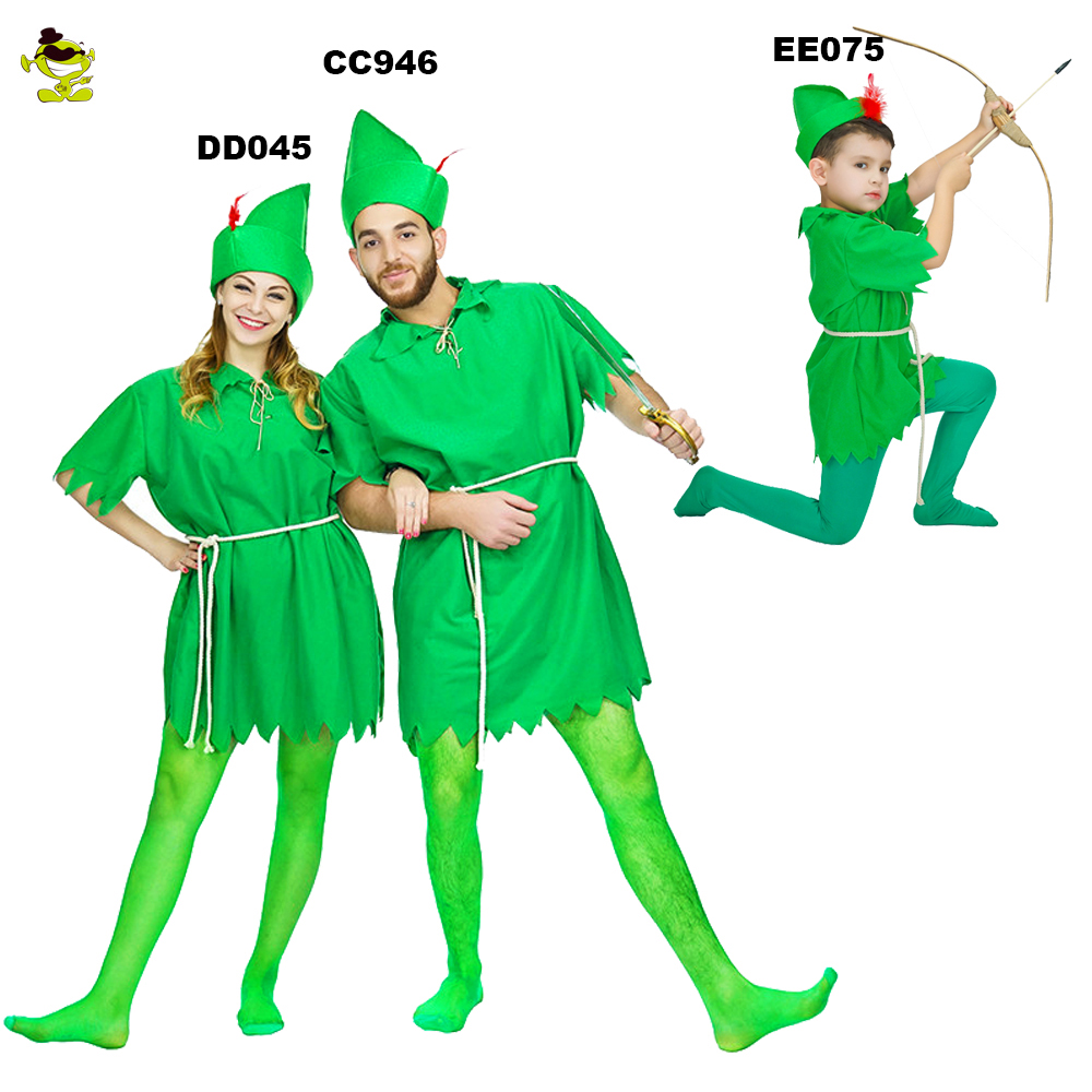 Halloween costumes fancy dress Peter Pan carnival peter pan party costumes Robin hood adult