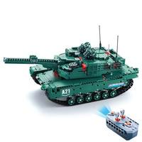 Двойной E C61001W 1498 шт. Грут строительные блоки 1:20 трансформер M1A2 бак автомобиля RC игрушки для Детский подарок RC танкер