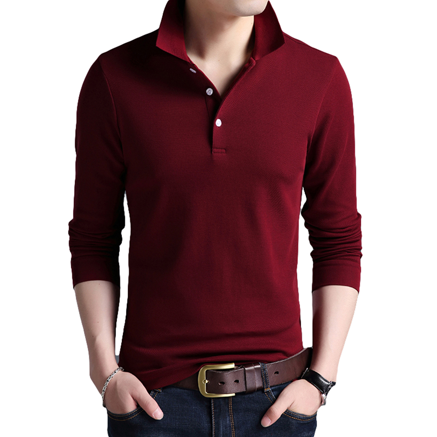 Long Sleeve Mens Polo Shirt Plus Size Cotton Harajuku Polos Hip Hop Slim Fit Colorful Polo Shirts