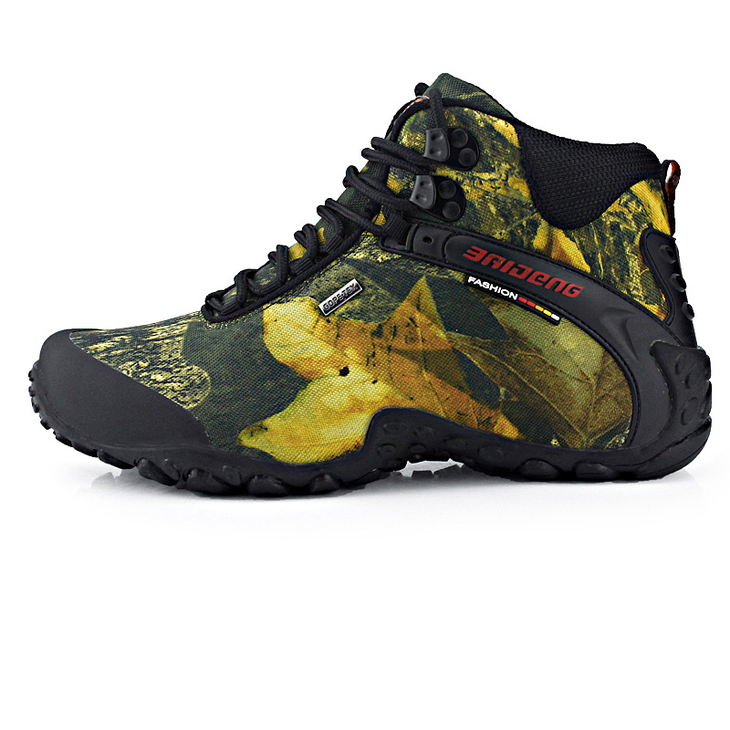ФОТО men Outdoor camouflage waterproof shoes Mens large plus size fashion high quality style size 40-46