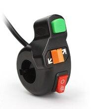 3 в 1 Универсальный мотоцикл роллер Dirt ATV Руль управления для мотоциклов выключатель автоматический Фары для автомобиля/указатели поворота/рог на выключатель