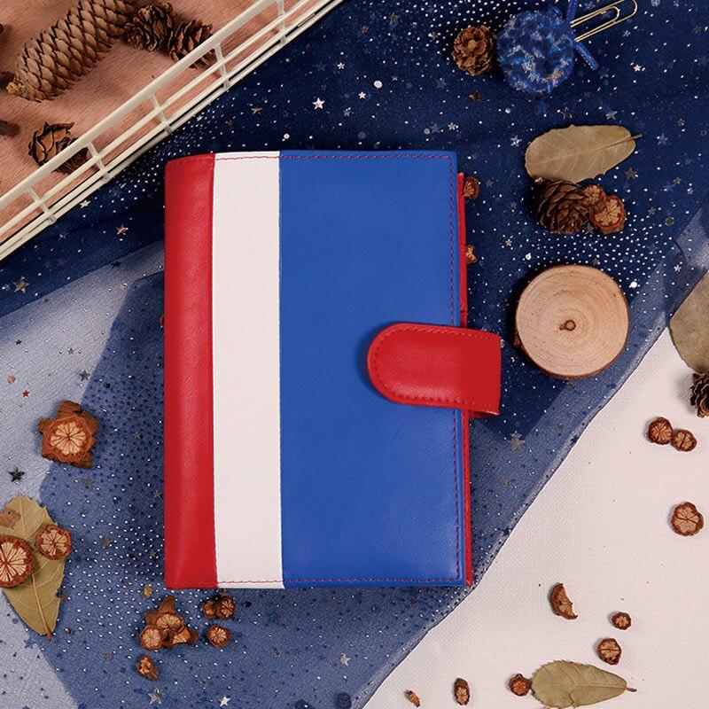 Yiwi A5 A6 PU carnet de poche Journal de voyage planificateur carnet de croquis Agenda bricolage recharge papier école cadeau d'anniversaire