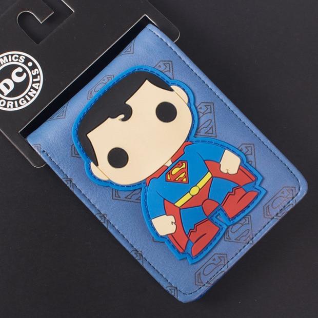 Подробнее о Comics DC Marvel Cartoon Wallets for Kids Cute Superman Purse Boys Gift PVC Money Bags dc marvel comics superman leather wallet men cartoon anime hero purse gift bags for boys wallets