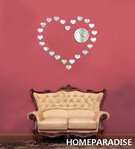 Silver Small Love Hearts Combines a Big Love Heart Art DIY 3D ...