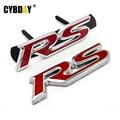 3D Metal RS Grille Emblem Sticker Badge Car Styling For Ford Focus Chevrolet cruze Kia Rio Skoda Octavia Mazda VW Hyundai Opel
