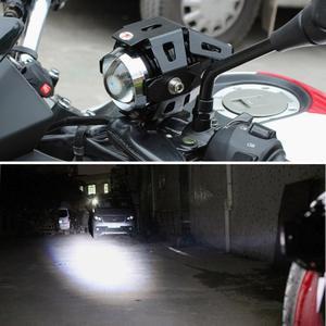 Image 5 - Lâmpada de farol de motocicleta qipo, u5, led, holofotes, hi/lo, acessórios 12v, para honda yamaha