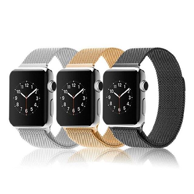 Оригинальный Milanese магнитная петля ремешком и ссылка браслет из нержавеющей стали для Apple , часы 42 мм 38 мм ремешок для часов