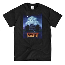 Funny Men t shirt white t-shirt tshirts Black tee Fright Night Movie Poster  Men s b70f2bb24