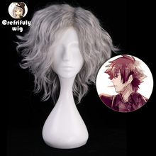 FATE/Grand Order Avenger Monte Cristo Cosplay Wig Short Curly Grey Synthetic Hair Halloween Costume Party Wigs For Men Women