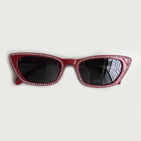 Ladies Cat Eye Sunglasses Women 2019 Luxury Brand Designer Diamond Sun Glasses For Women Vintage Gradient Shades Female UV400