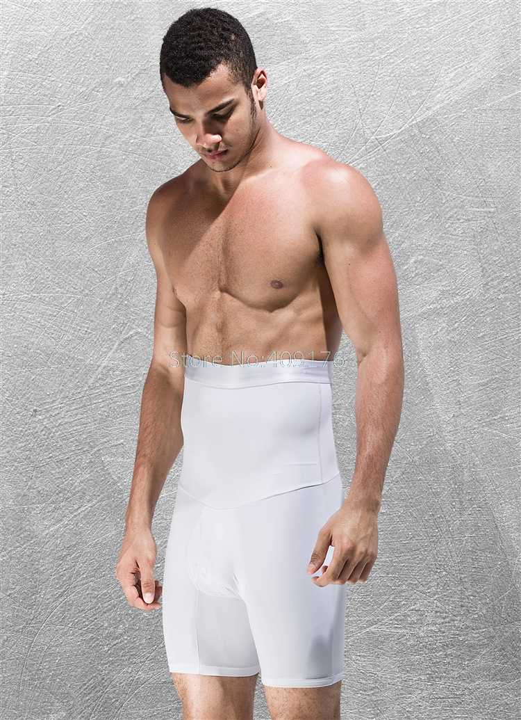 4ef882cf488 ... PRAYGER Men High Waist Big Belly Control Panties Tummy Trimmer Corset  Hold Stomach Body Shaper boyshort