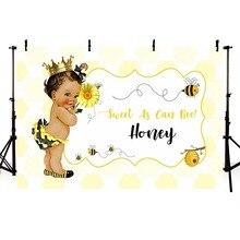 Baby Background Vinyl Newborn Photocall Boys Prince Bee Custom Birthday Photo Studio Photography Backdrop