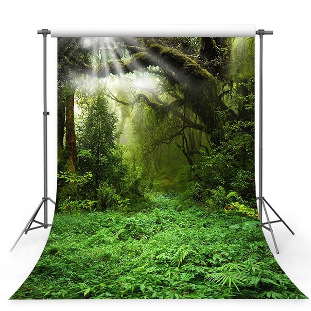 MEHOFOTO background for photo studio Fairy tale forest moon jungle green grass tree backdrop photocall photo prop professional