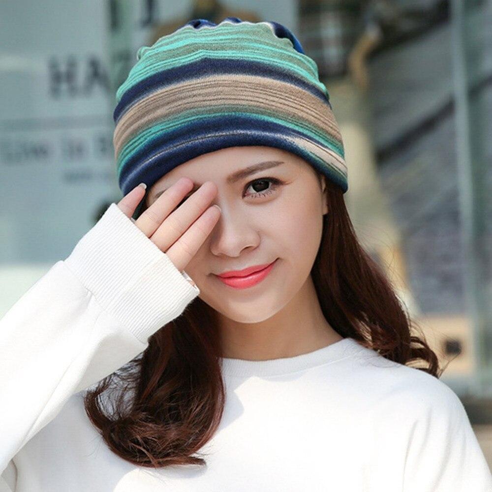 Topi Sorban musim dingin Gadis Musim Dingin Beanie Topi Tujuan Ganda Syal  Tebal Hangat Stocking 36d8b60491