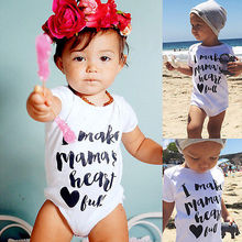 Newborn Kids Baby Infant Boy Girl Clothing Summer Cool Cute Letter printed Playsuit Romper Jumpsuit Outfits Clothes Wholesale