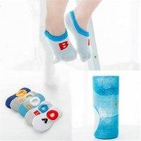 5pairs/lot Summer Boys Socks New English Alphabet Series Invisible Silicone Socks TWS0303