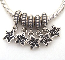 SSVWG272 5X 100% Authenticity S925 Sterling Silver Beads SilverBead Fit European Charms Bracelet diy jewelry Lampwork