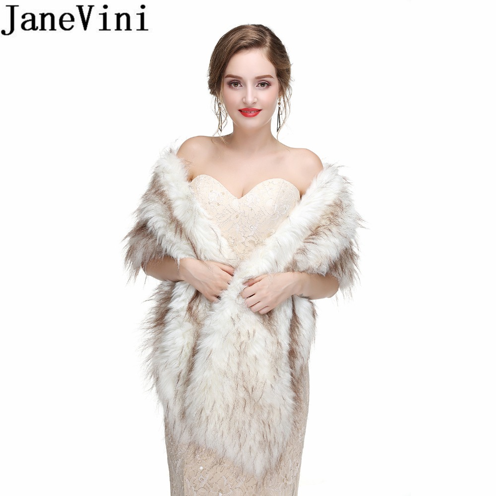 US Winter Women Faux Fur Wrap Bridal Bolero Warm Shawl Shrug Scarf Stole Jackets